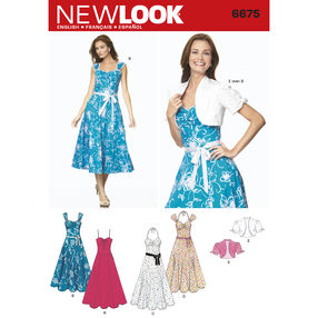 New Look Pattern 6675 Misses' Dresses