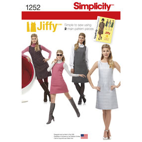 Simplicity Pattern 1252 Misses' and Miss Petite Dress or Jumper