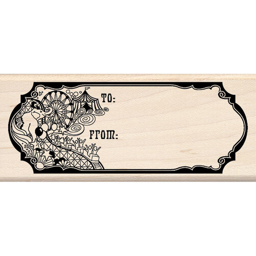 Pattern Gift Tag Wood Stamp_60-00960