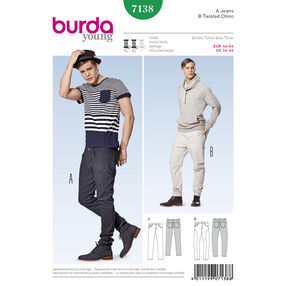 Burda Style Pattern 7138 Pants