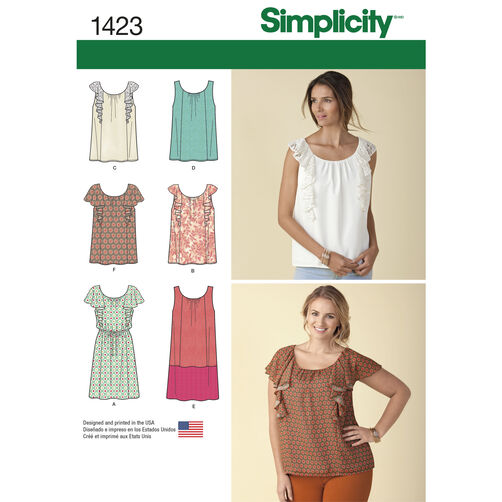 Simplicity Pattern 1423 Misses' Mini Dress or Top