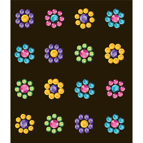 Multi Flower Electronic Stickers_50-00137
