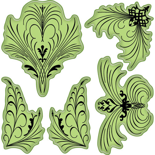 Elegant Flourishes Cling Stamps_65-32002