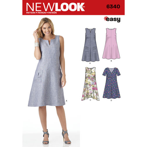 New Look Pattern 6340 Misses' Easy Dresses
