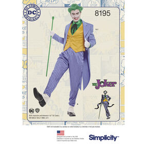 Pattern 8195 Men's D.C. Comics Joker Costume