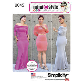 Simplicity Pattern 8045 Miss and Plus Size Knit Dress from Mimi G Style