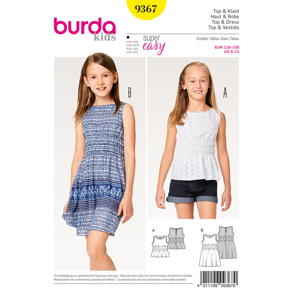 Dress Patterns For Girls  9 Adorable Free Patterns