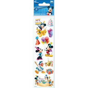 Mickey Mouse Birthday Dimensional Stickers_51-40022