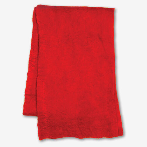 Red Wool Felt Scarf_72-73650