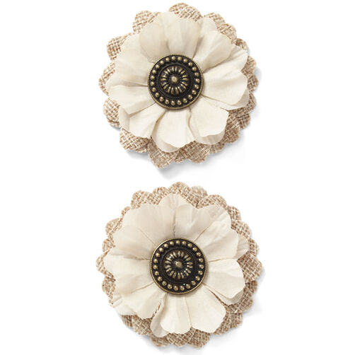Layered Jute Flower Embellishments_50-60271