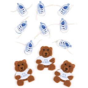 Baby Boy Bear and Bootie Embellishments_50-00439