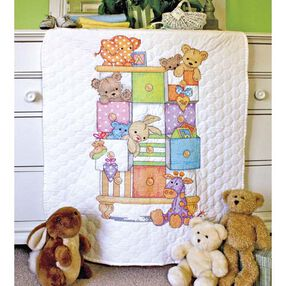 Baby Drawers Quilt, Stamped Cross Stitch_73537