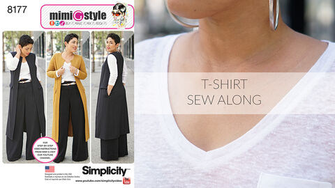 Mimi G Simplicity Pattern 8177 Sew-Along for T-Shirt