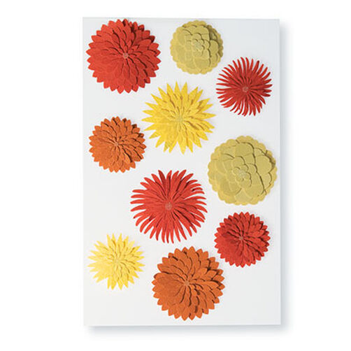 Dimensional Dahlia Stickers_M355003