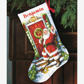 Welcome Santa Stocking in Counted Cross Stitch_70-08901