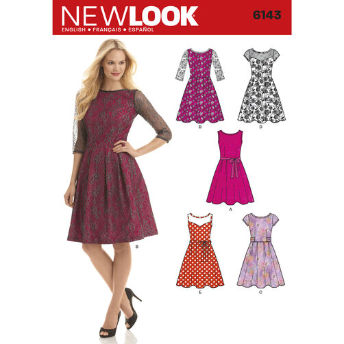New Look Pattern 6143 Misses' Dress