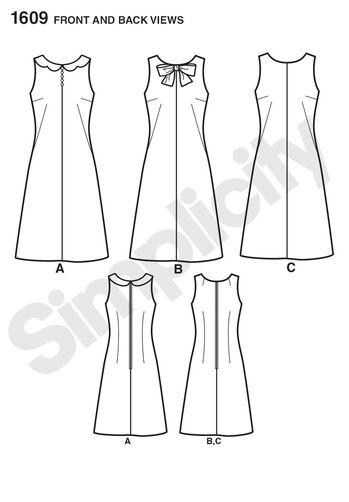 Misses' Jiffy 1960's Vintage Dress