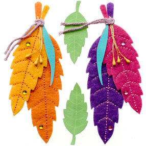 Colorful Stitched Feathers Stickers_50-21292