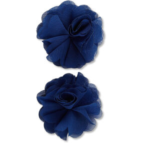 Navy Lace Flower Embellishments_50-60342