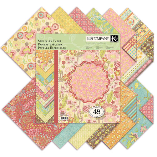 Pink Posey 48 Sheet 12 x 12 Specialty Paper Pad_30-302631