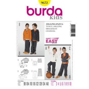 Burda Style Pattern 9672 Sweatsuit
