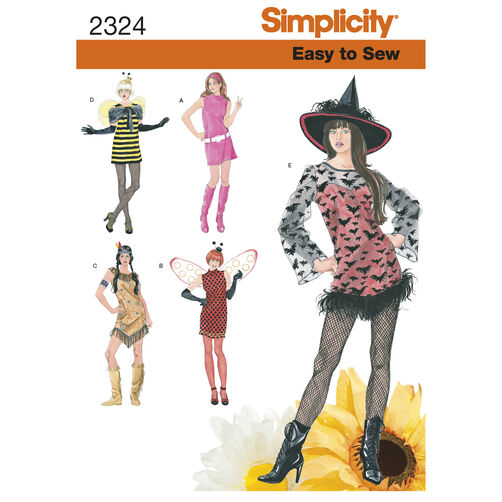 Simplicity Pattern 2324 Misses' Easy-to-Sew Costumes