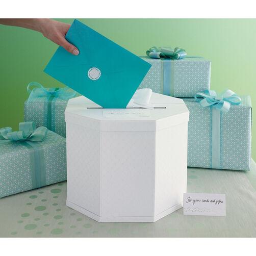 White Eyelet Gift Card Box_44-21002