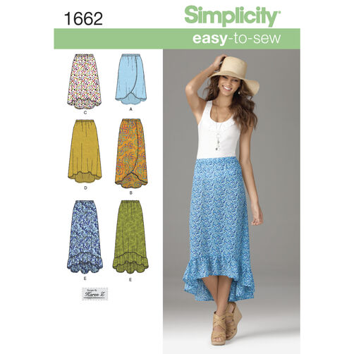 Simplicity Pattern 1662 Misses' Easy to Sew Skirts