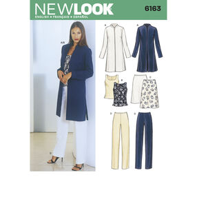 New Look Pattern 6163 Misses Separates