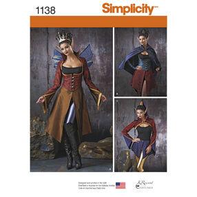 Simplicity Pattern 1138 Misses' Dark Faeries Costumes