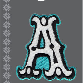 "2"" Rock 'n Roll Letter Iron-On Applique"