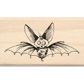 Scaredy Bat Wood Stamp_60-01095