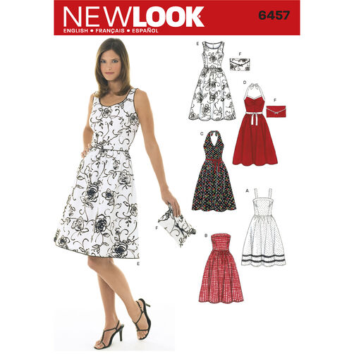 New Look Pattern 6457 Misses Dresses