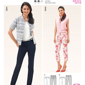 Burda Style Pattern 6668 Misses' Pants