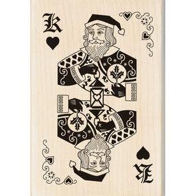 Santa Card Wood Stamp_60-00935