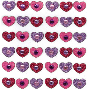 Tween Gem Hearts Stickers_50-20188