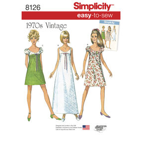 Simplicity Pattern 8126 Misses' Easy-to-Sew Vintage Dress