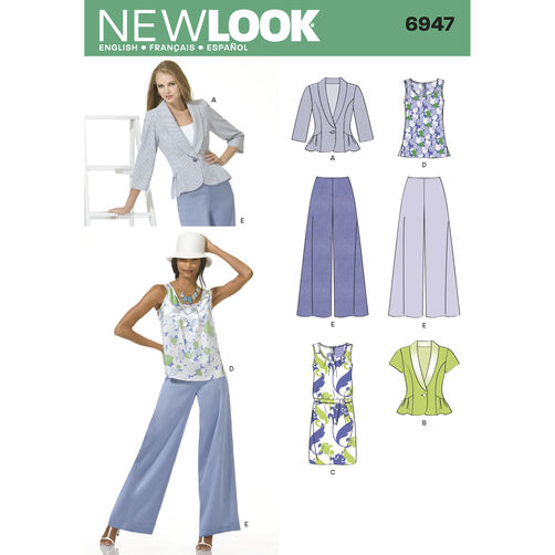 New Look Pattern 6947 Misses Separates