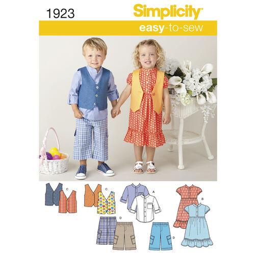 Simplicity Pattern 1923 Toddler's Sportswear