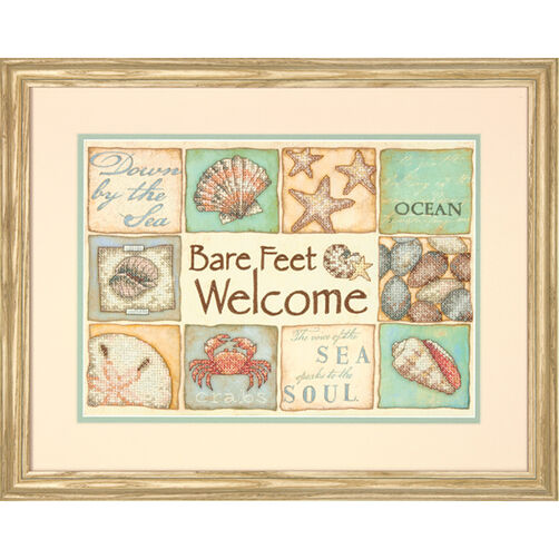 Bare Feet Welcome, Stamped Cross Stitch_70-03245
