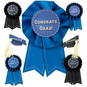 Graduation Cap and Ribbon Stickers_50-21469