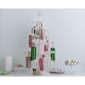 Christmas Candy Cane Ribbon Ornament Kit_48-30278