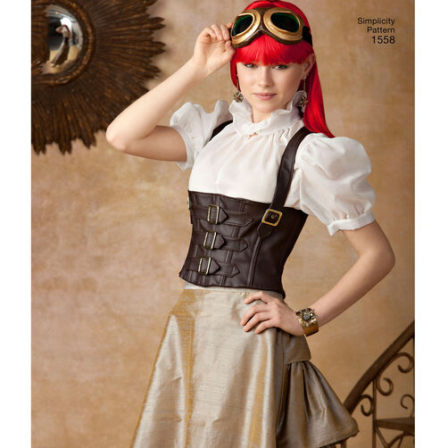 pattern for misses steampunk costume simplicity