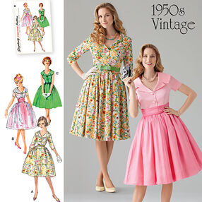 Misses' & Miss Petite 1950's Vintage Dress