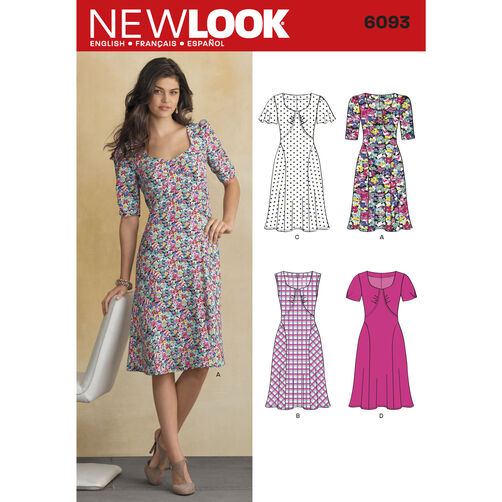 New Look Pattern 6093 Misses' Dresses