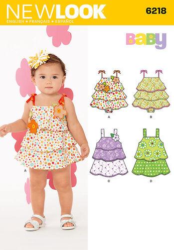 Babies' Sun-suit and Dress