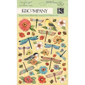 Susan Winget Nature Bird & Flower Pillow Stickers_30-614765