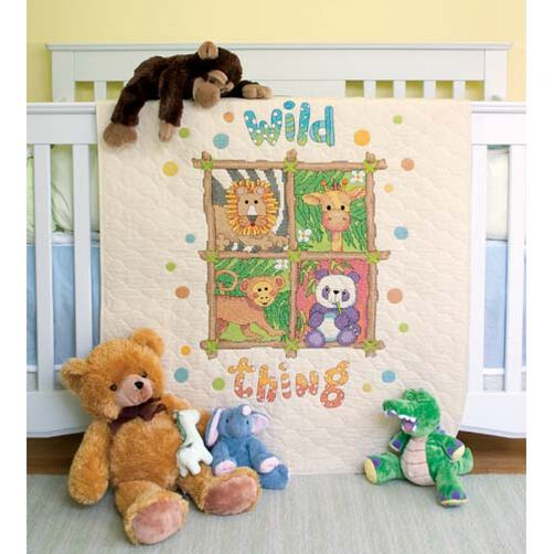 Wild Thing Quilt, Stamped Cross Stitch_73249