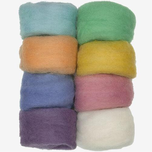 Pastel Wool Roving - 8 Pack, Needle Felting_72-74003
