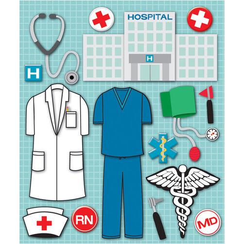 Doctor+Nurse Sticker Medley_30-588356